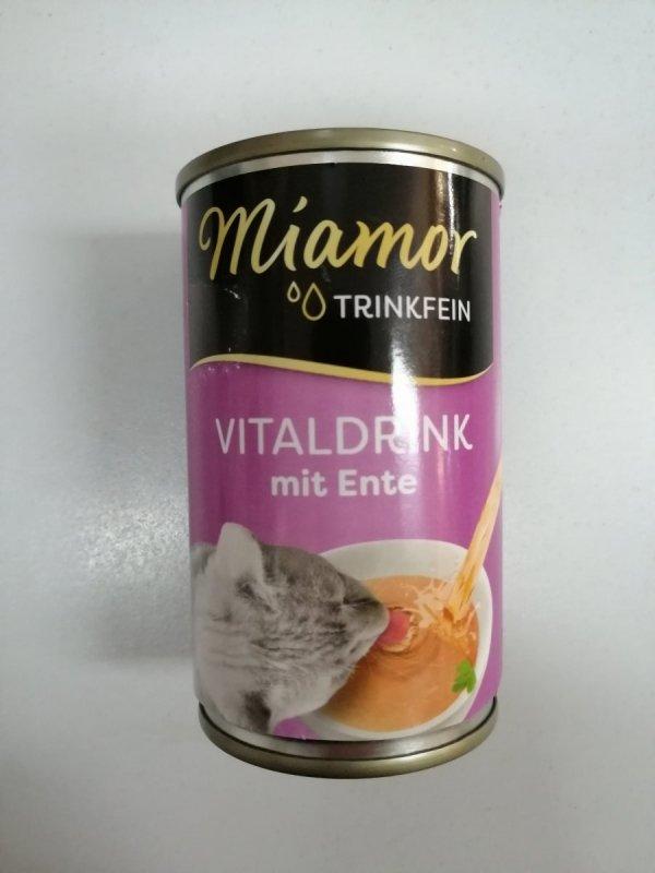 Miamor Vitaldrink z kaczką puszka 135ml
