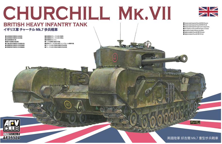 AFV Club AF35324 Churchill MK.VII 1 35 - Czołgi - 1939-1945 - Skala 1:35 -  Pojazdy i sprzęt wojskowy