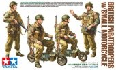 Tamiya 35337 British Paratroopers w/Small Motorcycle (1:35)