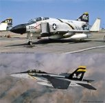 Hasegawa SP347 F-4J Phantom II & F/A-18F Super Hornet Jolly Rogers (2 kits) 1/72