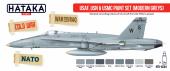 Hataka HTK-AS44 USAF, USN USMC paint set (modern greys)