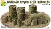 Classy Hobby MC16008 WWII US 20L Jerry Can & 200L Fuel Drum Set 1/16