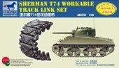 Bronco AB3545 Sherman T74 Workable Track Link Set 1/35