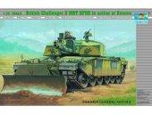 Trumpeter 00345 British Challenger 2 MBT KFOR in action at Kosovo (1:35)