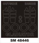 Montex SM48446 GLOSTER GLADIATOR MERIT 1/48