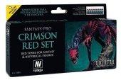 Vallejo 74103 Model Color Set Fantasy Pro Crimson Red 8x17 ml