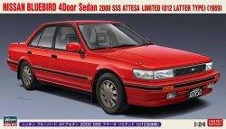 Hasegawa 20497 Nissan Bluebird 4Door Sedan SSS Attesa Limited (U12 Latter Type) (1989) 1/24
