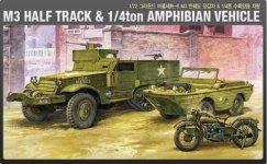 Academy 13408 M3 HALF TRACK & 1/4ton AMPHIBIAN VEHICLE (1:72)