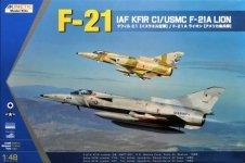 Kinetic K48053 F-21 IAI Kfir CI/USMC F-21A Lion 1/48