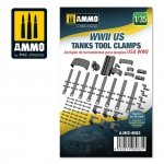 AMMO of Mig Jimenez 8083 WWII US tanks tool clamps 1/35