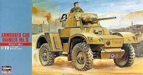 Hasegawa MT24 British Daimler Mk II Armoured Car (1:72)