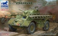 Bronco CB35115 T17E1 STAGHOUND MK.I Armored Car (Late Production) with 12 Feet Assault Bridge (1:35)