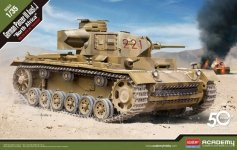 Academy 13531 Panzer III Ausf. J North Afrika 1/35