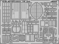 Eduard 48968 MiG-25PD exteriér ICM 1/48