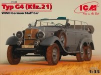 ICM 35538 Typ G4 (Kfz.21) WWII German Staff Car (1:35)