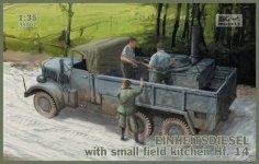 IBG 35007 Einheitsdiesel with small field kitchen Hf.14 1/35