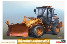 Hasegawa 66102 Hitachi Wheel Loader ZW100-6 Multiplow (Snowplow) Working Machine 1/35