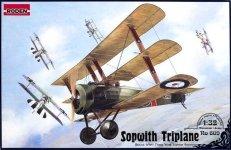 Roden 609 British IWW fighter Sopwith Triplane (1:32)