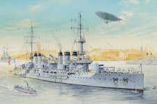 Hobby Boss 86504 French Navy Pre-Dreadnought Battleship Voltaire 1/350