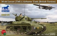 Bronco CB35161 M-22 Locust (T9E1) Airborne Tank (British Version) (1:35)