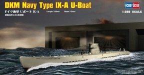 Hobby Boss 83506 German Submarine U-Boot Type IX-A (1:350)