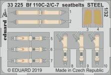 Eduard 33225 Bf 110C-2/ C-7 seatbelts STEEL REVELL 1/32