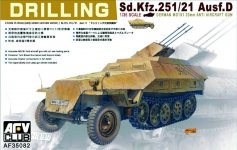 AFV Club 35082 Sd.Kfz. 251/21 ausf.D Drilling (1:35)