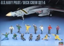 Hasegawa X48-6 U.S. NAVY PILOT DECK CREW SET C (1:48)