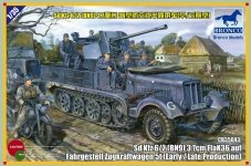 Bronco CB35043 Sd.kfz 6/2 5t 3.7cm Flak36 half-track (BN9) Early/Late Prod.