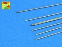 Aber BR07 Brass round rods fi 0,7mm length 250mm x 7 pcs.