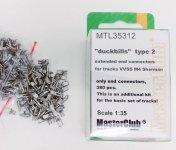 MasterClub MTL-35312 Extended end connectors duckbills type 2 for tracks VVSS M4 Sherman 1:35