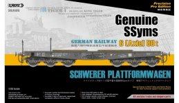 Sabre 35A05 Geniune SSyms - German Railway SCHWERER PLATTFORMWAGEN 6-Axle 80ton (Precision Pro Edition) 1/35