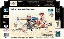 Master box 3597 Vickers Machine Gun Team - Desert Battle Series WW I (1:35)