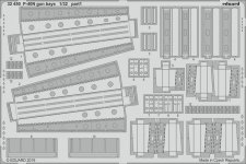 Eduard 32450 P-40N gun bays 1/32 TRUMPETER