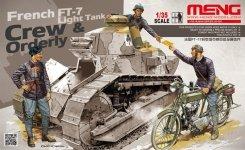 Meng Model HS-005 French FT-7 Light Tank Crew/Orderly 1:35