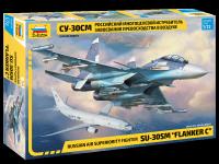 Zvezda 7314 Russian air superiority fighter SU-30SM FLANKER C 1/72