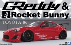 Aoshima 05093 Toyota 86 12 Greddy / Rocket Bunny Enkei Version 1/24