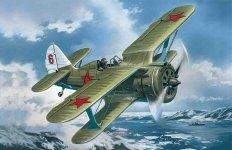ICM 48095 Soviet IIWW biplane fighter Polikarpov I-153 (1:48)