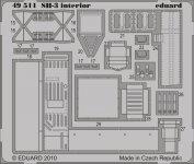 Eduard 49511 SH-3 interior S. A. 1/48 HASEGAWA