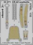 Eduard 33271 CR.42 seatbelts STEEL ICM 1/32