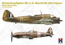 Hobby 2000 72005 Bristol Beaufighter Ic & Macchi MC.202 Folgore North Africa 1942 1/72