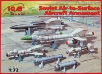 ICM 72213 Soviet Air-to-Surface Aircraft Armament (1:72)