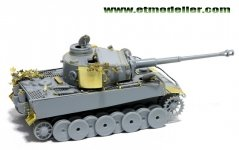 E.T. Model E72-006 WWII German TIGER I Initial Production For DRAGON 7370 1/72