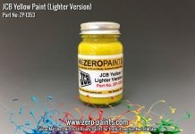 Zero Paints ZP-1353 JCB Yellow (Lighter) Paint 60ml