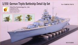Very Fire VF350005 German Tirpitz Battleship Detail Up Set for Tamiya 78015 1/350