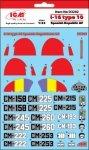 ICM D3202 I-16 type 10 - kalkomania 1/32