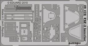 Eduard 49478 F6F-3 interior S. A. 1/48 Hobby Boss