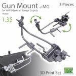 T-Rex Studio TR35030 WWII German MG AA Gun Cupola Mount 3 Pieces 1/35