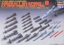 Hasegawa X48-8 AIRCRAFT WEAPONS: D U.S Smart Bombs Target Pods (1:48)