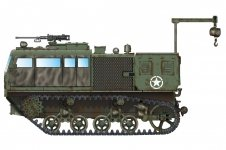Hobby Boss 82921 M4 High Speed Tractor (155mm/8-in./240mm)1/72